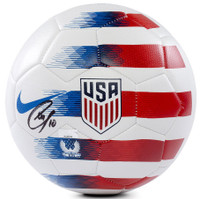 CHRISTIAN PULISIC Autographed Nike 2018 USA White Prestige Soccer Ball PANINI
