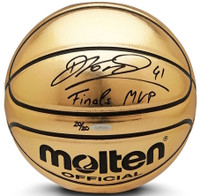"DIRK NOWITZKI Autographed Mavericks ""Finals MVP"" Molten Basketball UDA LE 20"