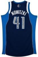 "DIRK NOWITZKI Autographed Mavericks ""MVP 06/07"" Revolution 30 Jersey UDA LE 41"