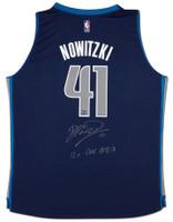 "DIRK NOWITZKI Autographed Mavericks ""12x All NBA"" Swingman Jersey UDA LE 10"