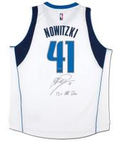"DIRK NOWITZKI Autographed Mavericks ""13x All Star"" Swingman Jersey UDA LE 10"