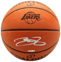 LEBRON JAMES Autographed Los Angeles Lakers NBA Game Authentic Basketball UDA