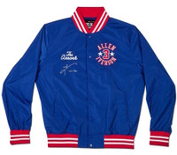 "ALLEN IVERSON Autographed ""Roots of Fight"" Authentic Stadium Jacket UDA LE 20"