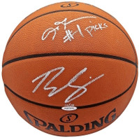 BEN SIMMONS / ALLEN IVERSON Autographed #1 Picks Authentic Basketball UDA LE 25
