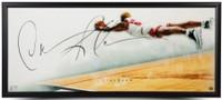 "DENNIS RODMAN Autographed Chicago Bulls ""Active"" The Show 46 x 20 Photograph UDA"