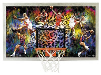 """DENNIS RODMAN Autographed Bulls """"Cleaning Up The Glass"""" Backboard Display UDA"""