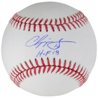 "CHIPPER JONES Autographed Atlanta Braves ""HOF 2018"" Official Baseball FANATICS"