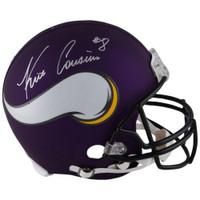 KIRK COUSINS Autographed Minnesota Vikings Authentic Proline Helmet FANATICS