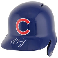 JAVIER BAEZ Autographed Chicago Cubs Batting Helmet FANATICS