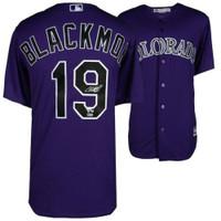CHARLIE BLACKMON Autographed Colorado Rockies Purple Jersey FANATICS