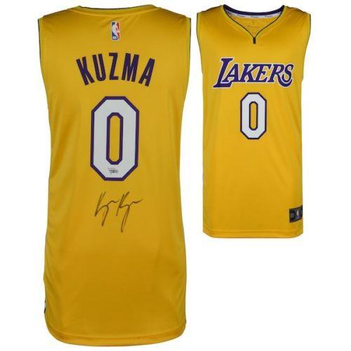 separation shoes e0de8 64cfe KYLE KUZMA Autographed Gold Los Angeles Lakers Jersey FANATICS