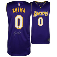 KYLE KUZMA Autographed Purple Los Angeles Lakers Jersey FANATICS