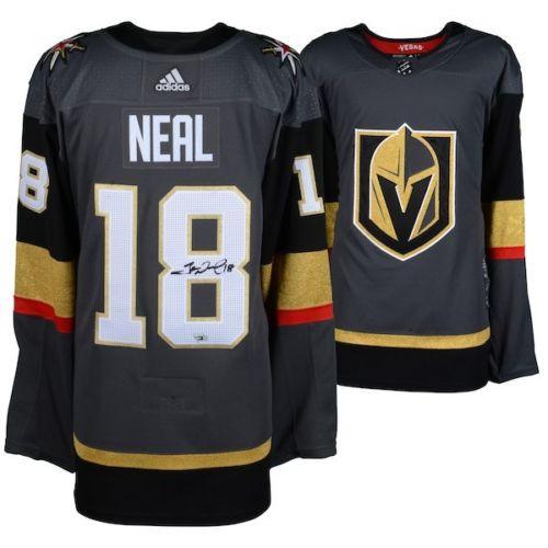 reputable site 54ce4 1d4e2 JAMES NEAL Autographed Las Vegas Golden Knights Authentic Black Jersey  FANATICS
