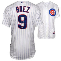 JAVIER BAEZ Autographed Chicago Cubs Authentic Home White Jersey FANATICS