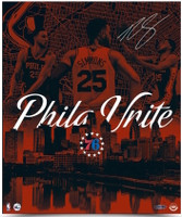 "BEN SIMMONS Autographed Philadelphia 76ers ""City United"" 20 x 24 Photograph UDA"