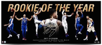 "BEN SIMMONS Autographed 76ers ""Rookie Of The Year"" 36 x 15 Photograph UDA"