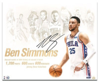 "BEN SIMMONS Autographed 76ers ""NBA Royalty"" 20 x 24 Photograph UDA"