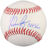 "NOLAN RYAN Autographed Texas Rangers ""324 Wins"" Official Baseball FANATICS"