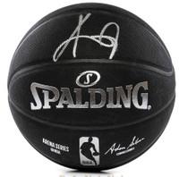 KYRIE IRVING Autographed Boston Celtics Black Spalding Basketball PANINI