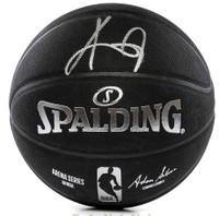 KYRIE IRVING Autographed Boston Celtics Black Spalding Basketball PANINI