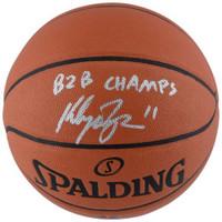 "KLAY THOMPSON Autographed / Inscribed ""B2B Champs"" Spalding Basketball FANATICS"