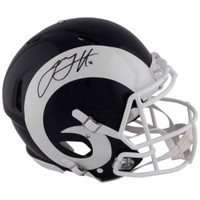 JARED GOFF Autographed Los Angeles Rams Speed Authentic Helmet FANATICS