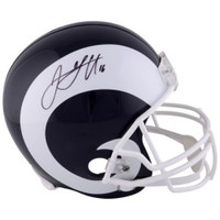 JARED GOFF Autographed Los Angeles Rams Full Size Helmet FANATICS