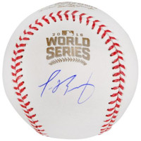 JAVIER BAEZ Autographed Chicago Cubs Official World Series Baseball FANATICS