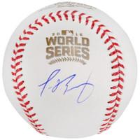 JAVIER BAEZ Autographed Chicago Cubs Official World Series Baseball FANATICS