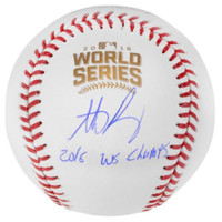 "ANTHONY RIZZO Autographed Cubs Official ""2016 WS Champs"" Baseball FANATICS"