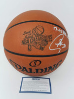 """STEPHEN CURRY Signed """"17-18 B2B Champs"""" Engraved Basketball STEINER LE 30/30"""