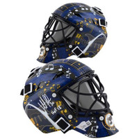 "MARTIN BRODEUR Autographed ""HOF 18"" St. Louis Blues Mini Goalie Mask FANATICS"