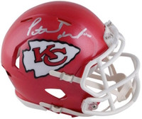 PATRICK MAHOMES Autographed Kansas City Chiefs Mini Speed Helmet FANATICS