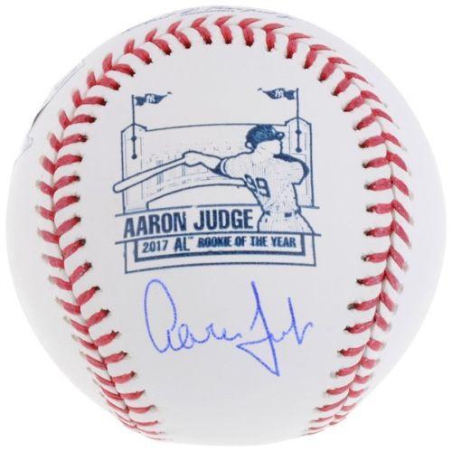 f17917fc3f8 AARON JUDGE Autographed New York Yankees ROY Logo Official MLB Baseball  FANATICS