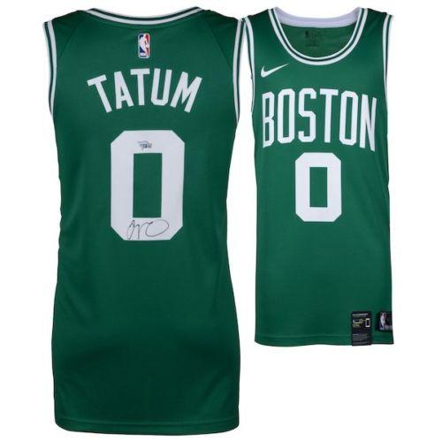 the best attitude 6ae20 4c375 JAYSON TATUM Boston Celtics Autographed Green Nike Swingman Jersey FANATICS