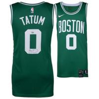 JAYSON TATUM Boston Celtics Autographed Green Nike Swingman Jersey FANATICS