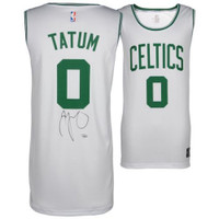 JAYSON TATUM Autographed Boston Celtics White Fastbreak Jersey FANATICS