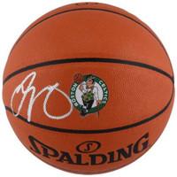 JAYSON TATUM Boston Celtics Logo Autographed Spalding Basketball FANATICS