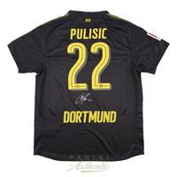 CHRISTIAN PULISIC Autographed Borussia Dortmund Black #22 Jersey PANINI