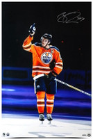 "CONNOR McDAVID Autographed ""Opening Night Hat Trick"" 20"" x 30"" Photograph UDA"