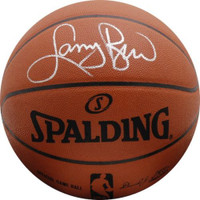 LARRY BIRD Boston Celtics Autographed Spalding Authentic Basketball - FANATICS
