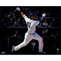 "MIGUEL ANDUJAR Autographed New York Yankees ""Hitting"" 16"" x 20"" Photograph - STEINER"