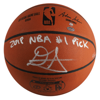 "DEANDRE AYTON Autographed (Silver) and Inscribed ""2018 NBA #1 Pick"" Authentic Spalding Basketball - Limited Edition of 22 - GAME DAY LEGENDS & STEINER"