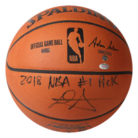 "DEANDRE AYTON Autographed (Black) and Inscribed ""2018 NBA #1 Pick"" Authentic Spalding Basketball - Limited Edition of 22 - GAME DAY LEGENDS & STEINER"