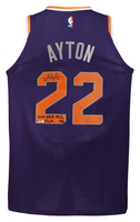 "DEANDRE AYTON Autographed and Inscribed ""2018 NBA #1 Pick"" Authentic Purple Nike Phoenix Suns Jersey - Limited Edition of 22 - GAME DAY LEGENDS & STEINER"