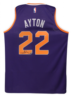 DEANDRE AYTON Autographed Purple Nike Phoenix Suns Swingman Jersey - GAME DAY LEGENDS & STEINER