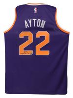 DEANDRE AYTON Autographed Purple Nike Phoenix Suns Swingman Jersey - GAME DAY LEGENDS & STEINER