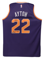 "DEANDRE AYTON Autographed and Inscribed ""Time To Rise"" Purple Nike Phoenix Suns Swingman Jersey - Limited Edition of 22 - GAME DAY LEGENDS & STEINER"