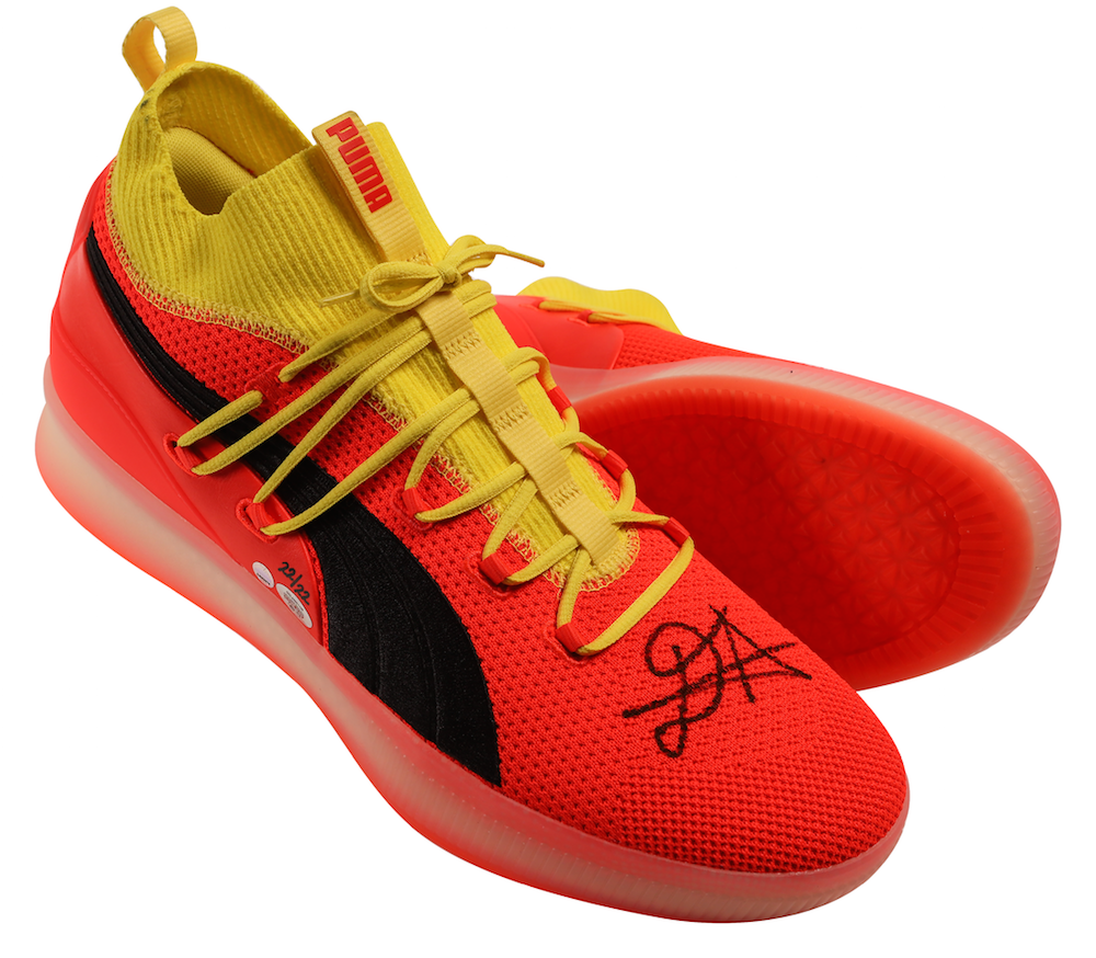 "best service 7d088 2bdba DEANDRE AYTON Autographed and Inscribed ""Time To Rise"" Puma Clyde Court  Disrupt Size 16 Shoes - Limited Edition of 22 - GAME DAY LEGENDS & STEINER"