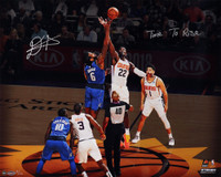 "DEANDRE AYTON Autographed and Inscribed Phoenix Suns ""Time To Rise"" Tip Off 16"" x 20"" Photograph - Limited Edition of 22 - GAME DAY LEGENDS & STEINER"